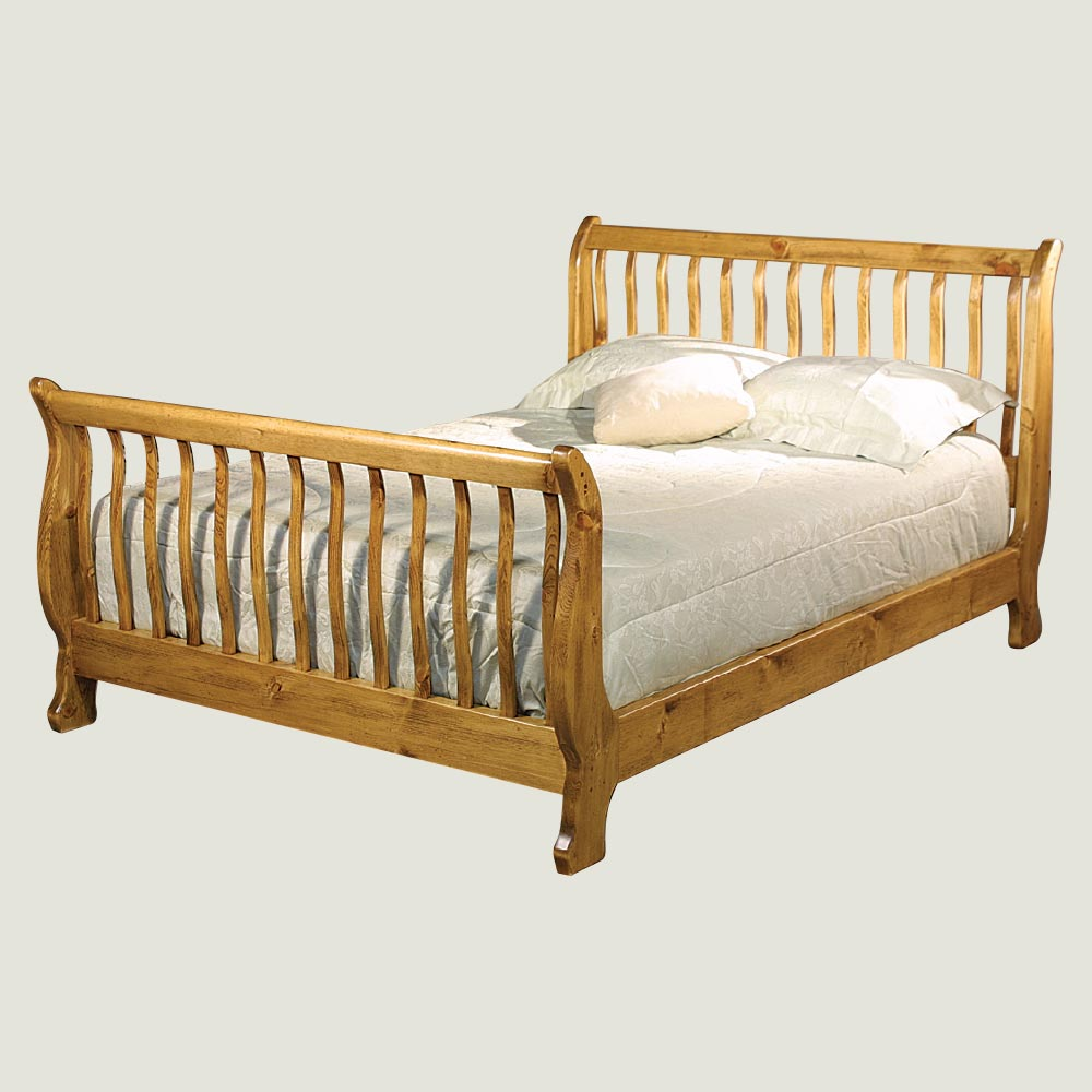 Slatted Sleigh Bed