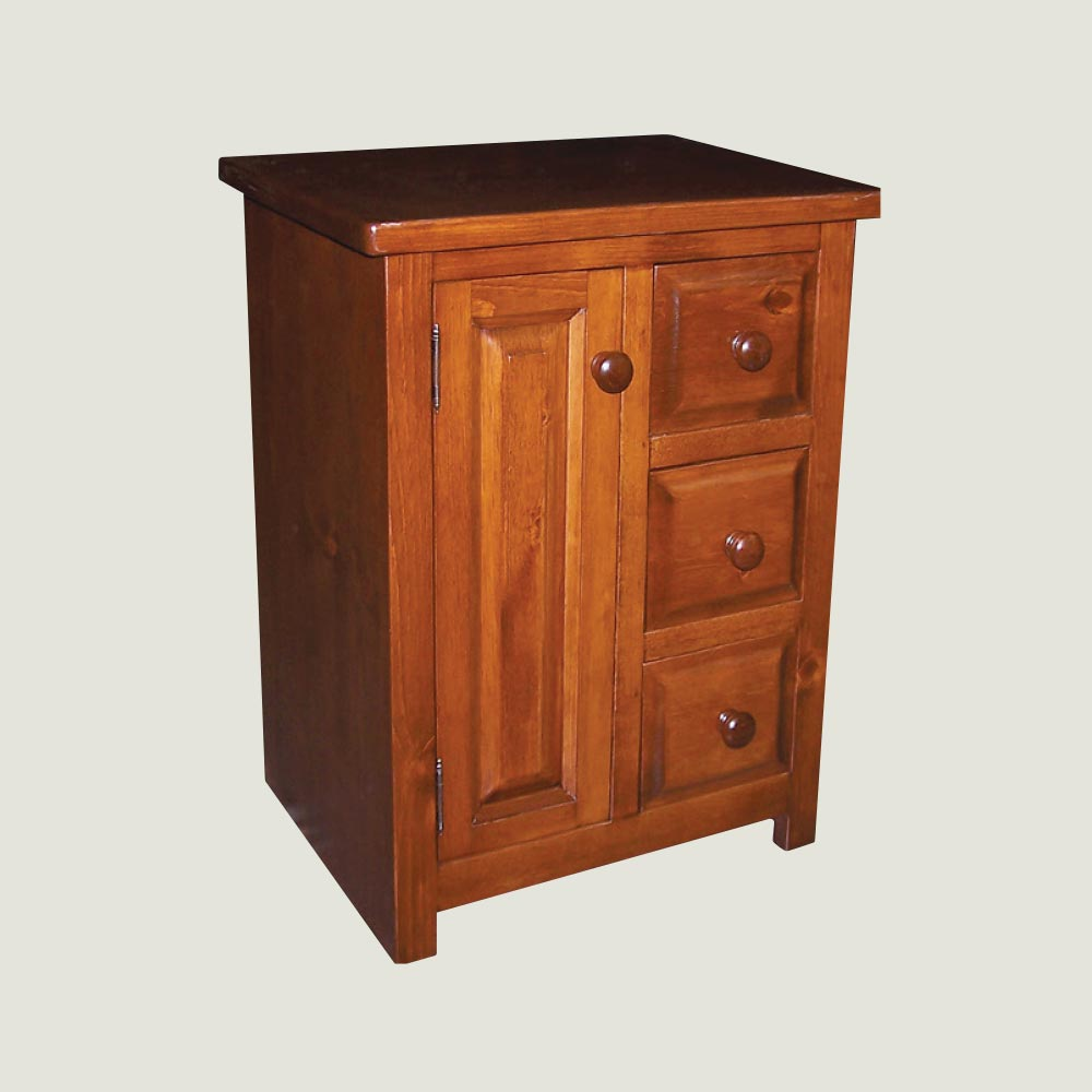 Nightstand – 3 Drawer, 1 Door