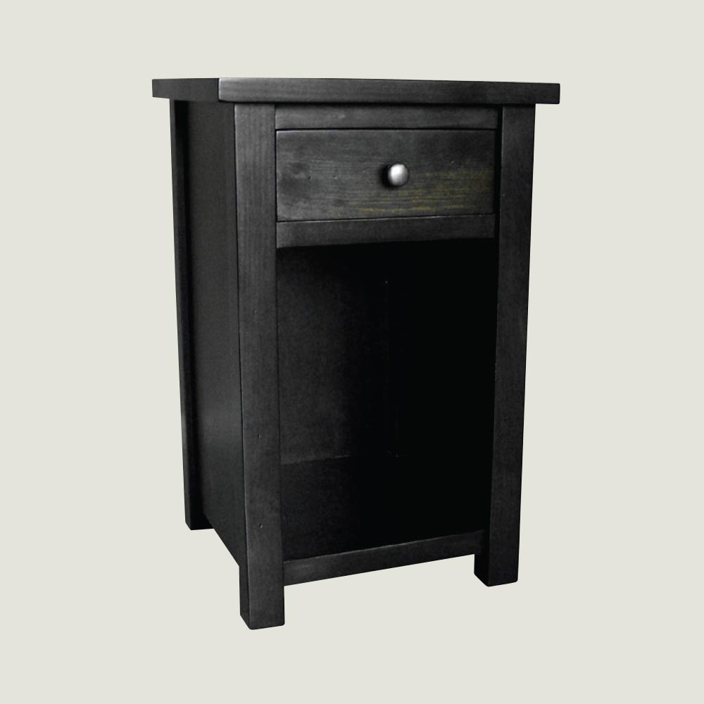 1 Drawer Open Bottom Nightstand