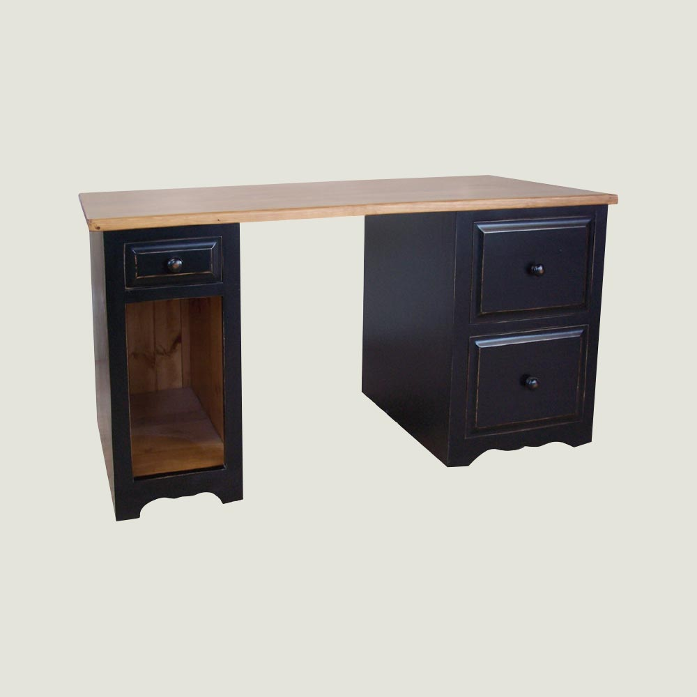 Desk: Two Drawer Filing Pedestal