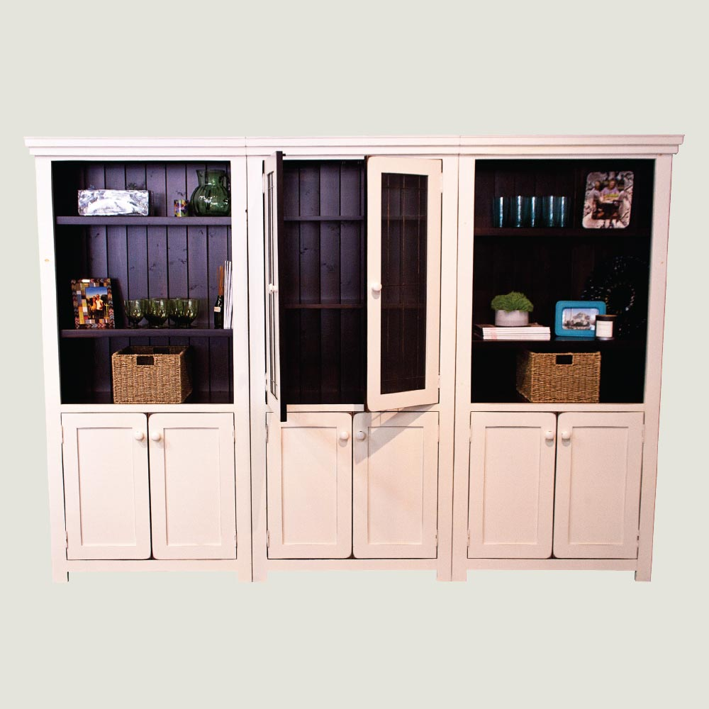 3 tall bookcase with 2 doors true north. Black Bedroom Furniture Sets. Home Design Ideas