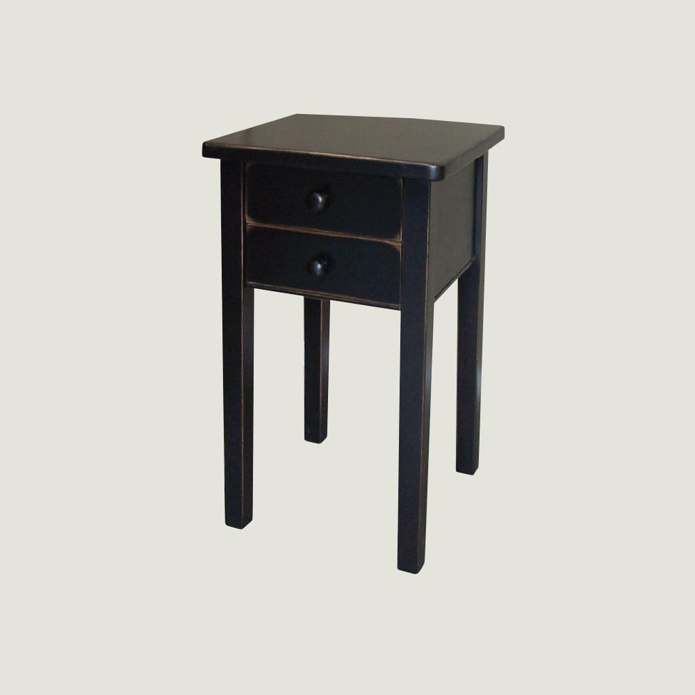 End Table With 2 Drawers True North